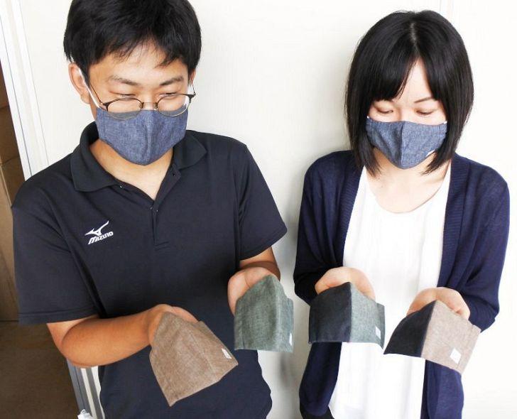 デニム サイズ 総社 マスク デニムマスク、即完売 総社市の旗振りで生産急ピッチ